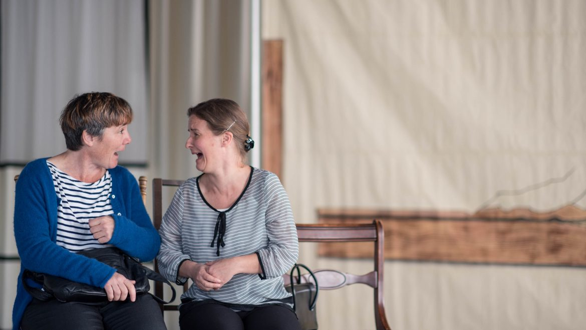 actors laughing together - Cracked on Dementia