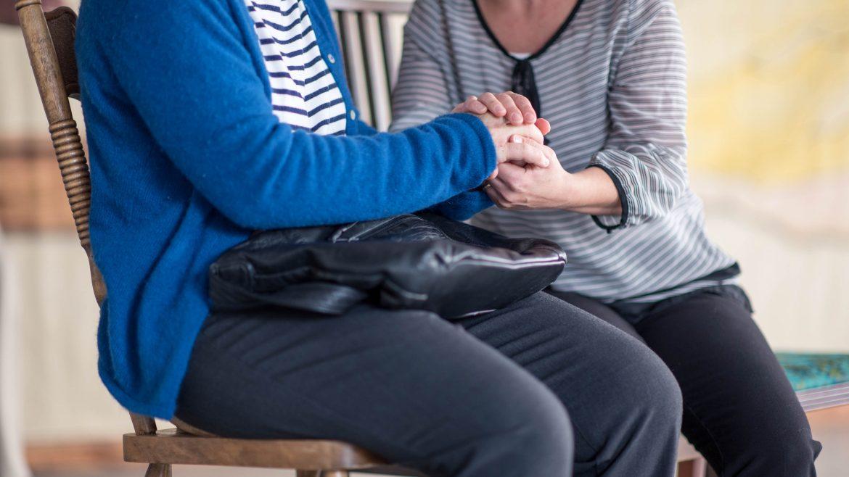actors holding hands - Cracked on Dementia