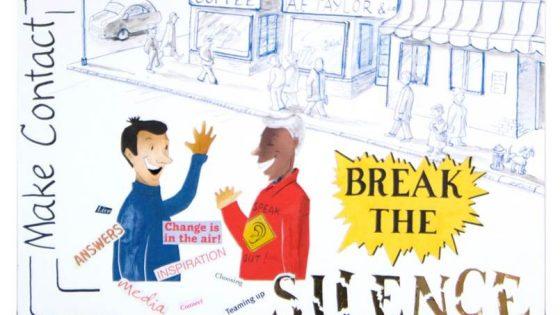break the silence - dementia art